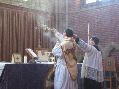 The incensing of the Altar
