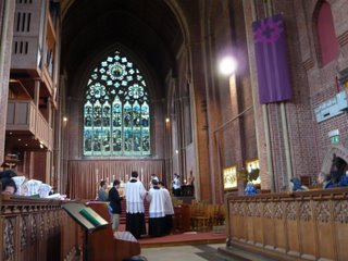Mass in Ardlingly College chapel